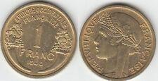Gertbrolen Afrique Occidentale Française 1 Franc Bronze-Aluminium 1944 Numéro 7