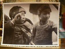 photo amateur 1938 chine china yunnanfu enfants chinois costume animee  yunnan