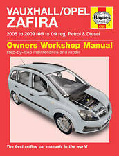 Haynes Manual 4792 Vauxhall Zafira 1.6i 1.8i 2.2i Club Design Life 2005-2009