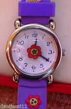 Reloj para niño  Quartz Time, correa de plástico color morado