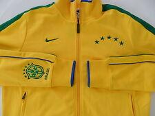 NWT~Nike BRAZIL N98 Soccer Football Track shirt sweat Jersey Jacket Brasil Top~L