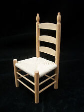 Ladderback Oak Side Chair T4293  miniature dollhouse furniture wooden 1pc