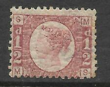 Sg 48 ½d Rose Red Plate 12 Lettered M-S UNMOUNTED MINT