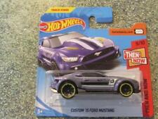 Hot Wheels 2018 #199/365 CUSTOM 2015 FORD MUSTANG purple HW Then and now