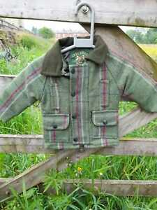 Child's waterproof tweed coat jacket last four items reduced two colour options