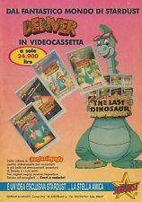 X7061 Denver - Videocassetta Stardust - Pubblicità 1990 - Advertising