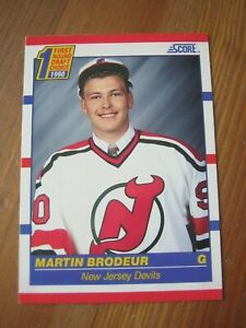 1990 91 Score #439 Martin Brodeur - New Jersey Devils Rookie Card RC         ZH1