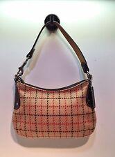 Coach Tatersall Plaid Wool Baguette Small Handbag/Purse/Shoulder Bag #9614