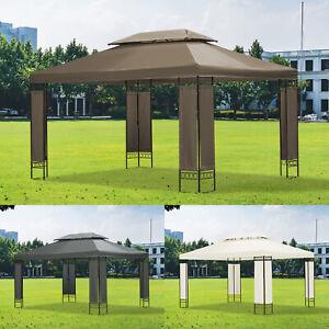 Garden Gazebo 3m x 4m Outdoor Marquee Party Tent Shelter Pavilion Patio 3 Colour
