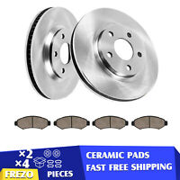 Front Brake Rotors +Ceramic Pads For Outlander Avenger Lancer Sebring