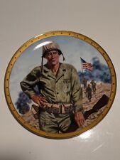 "John Wayne Plate Franklin Mint. ""Symbol of America's Fighting Forces"""