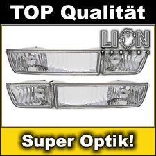 Nebelscheinwerfer + Frontblinker Blinker Klarglas VW Golf 3 III Vento Chrom