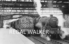 BRITISH RAIL RAILWAY STEAM PHOTO 1960'S - 5MT 44794 & D3535 AT PERTH 1966