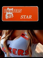 Hooters Girl Uniform Star Name Tag Pin Badge Holiday Lingerie Sexy Accessory