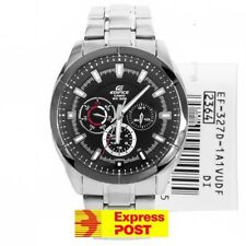Casio Edifice Watch EF-327D-1A1 Analog Ion Plated Bezel WR 100M EXPRESS POST