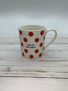 Kate Spade New York Lenox Coffee Mug LIFE OF THE PARTY 10oz NEW
