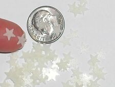 1Pc Tiny Little Glass Bag of GLOW IN DARK MINI STARS Fairy glitter sand New 6mm