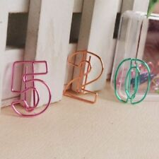 Supplies Figure Digital Paper Clips Numbers Pin Number Paperclip Bookmark