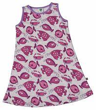 SMAFOLK Kleid kleidchen ärmellos Fische greymelange grau Gr.1-2 86-92 NEU
