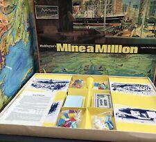MINE A MILLION Waddingtons Mining Board Game Vintage 1965 Near Complete