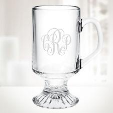 Personalized Irish Coffee Footed Glass Mug, 10oz