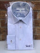 """TED BAKER Men's Endurance Shirt BNWT SAMPLE White Diamond Pattern 15.5"""" Collar"""