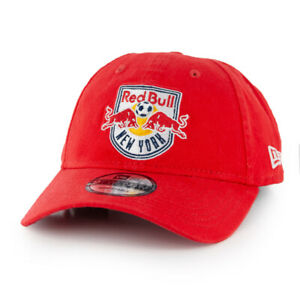 "New Era 920 New York Red Bulls ""Core Classic"" Strapback Hat (Black) MLS Dad Cap"