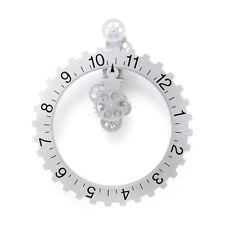 Kikkerland Big Wheel Hour Wall Clock Steampunk Beautiful Unique Industrial