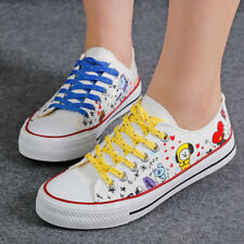 KPOP BTS BT21 Canvas Shoes For Women Mens Students Casual Shoes Jungkook 2018