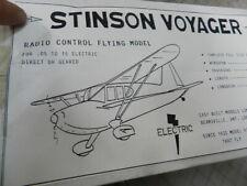 Stinson Voyager balsa kit  By easy built models