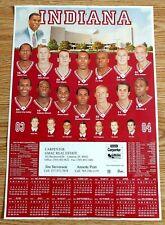 Indiana Hoosiers 2003-04 Men'S Basketball Poster Schedule - Rare