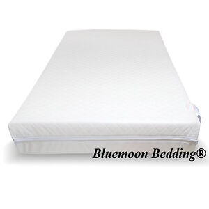ALL SIZES JUNIOR COT BED ECO FRIENDLY FIBER MATTRESS QUILTED  REMOVABLE COVER