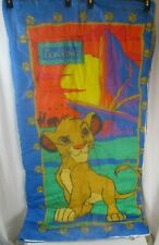 "Vintage Disney The Lion King Child Size Sleeping Bag 28"" x 54"" Simba 1990's"