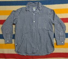 NEW Post Overalls O'All's USA Half-Button Pullover Tartan Flannel Work Shirt L