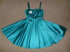 Sensational BNWT Moschino Turquoise Satin Designer Dress Size 10 RRP £293