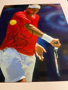 Roger Federer   signed 8 x 10 3 players of all time US Open