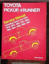 Bentley Toyota Pick-Up & 4Runner + Diesel & 4WD 1978-1987 Service Manual