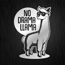 NO DRAMA LLAMA Lama Alpaca Alpaka Silber Silver Vinyl Decal Sticker Aufkleber