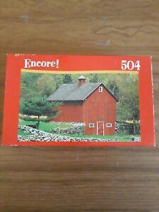 Pre-Owned Mega Encore! 504 Jigsaw Puzzle - Stonington, CT Red Barn