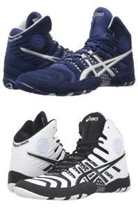 New Men's Asics Dan Gable Ultimate 4 Wrestling Shoes Size 8-15 White J500Y-0190