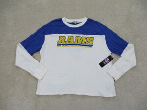 NEW Los Angeles Rams Shirt Womens Extra Large White Blue Football Ladies