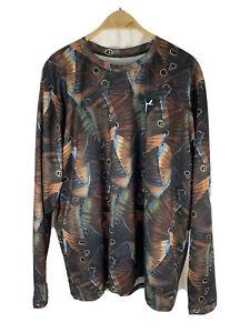 Trilogy Camo Redfish Tail Men's XXL Fishing Shirt NWOT