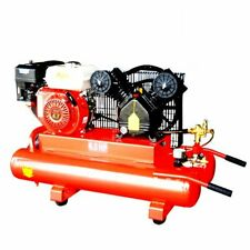 6.5-Hp 10-Gallon Twin Tank 115-Psi Gas-Powered Belt Drive Air Compressor New