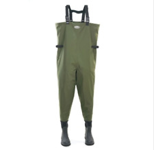 *NEW* Greys G-Series Green/Black Breathable Bootfoot Chest Waders Size 10 UK