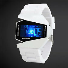 Fashion Men's Black Stainless Steel Luxury Sport Digital LED Wrist DIAL Watch
