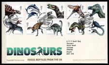 Dinosaurier. FDC-Brief, Beschreibung. Großbritannien 2013