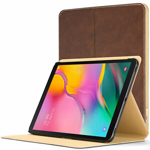 Samsung Galaxy Tab A 10.1 2019 Cover Case Stand Brown + Stylus Protector