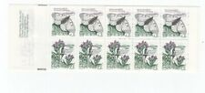 Sweden 1987 butterflies , flowers booklet 1987 ( face value price apx. 2.2 $)