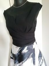 COAST Ladies 2 Piece Occasion Evening Top Black Skirt Outfit Size 10 Smart