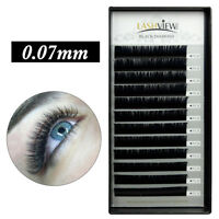 3D Volume Individual Mink Semi-permanent Eyelash Extensions 0.07mm B C D Curl